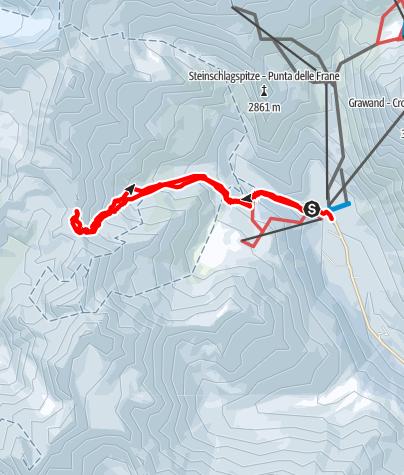 Kaart / Langgrubjoch (3080 m), Schnalstal