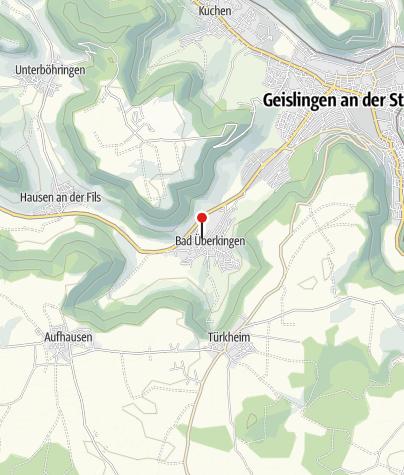Karte / Mineralbrunnen / Thermalbad Überkingen