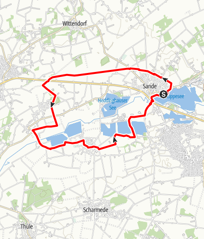 Karte / Wasserroute Paderborn/Delbrück