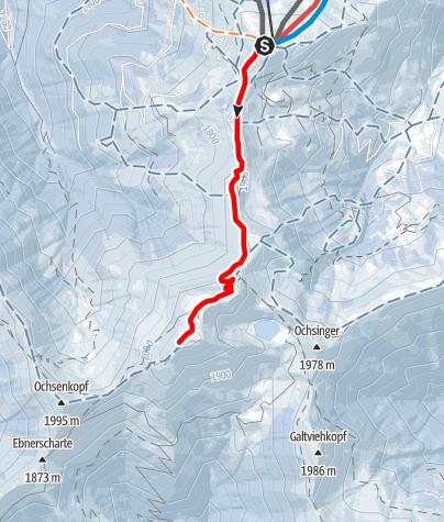 Karte / Skitour zum Statzerhaus auf den Hundstein 2117 m
