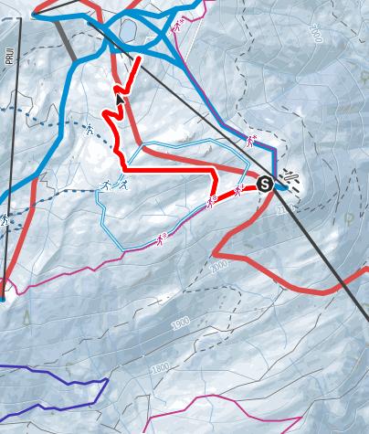 Karte / Motta Naluns - Chamanna Naluns (retour)