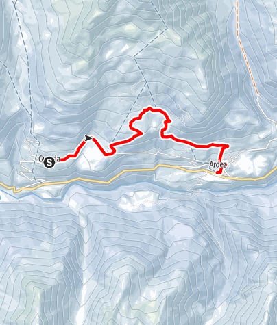 Karte / Guarda - Bos-cha - Munt - Ardez