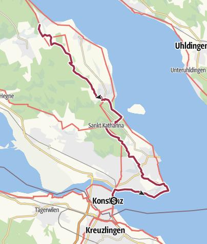 Map / SeeGang Etappe 1 - Von Konstanz nach Wallhausen