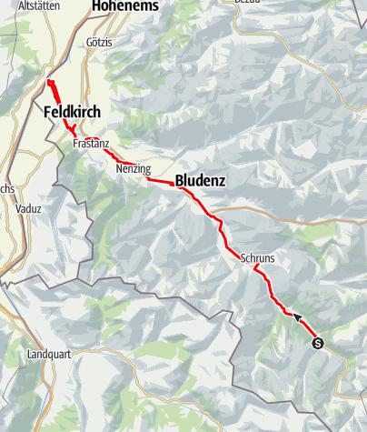 Map / Ill-Tour - vom Ursprung zur Mündung