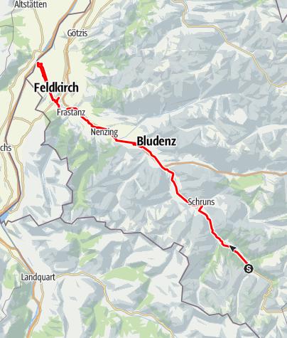 Karte / Ill-Tour - vom Ursprung zur Mündung