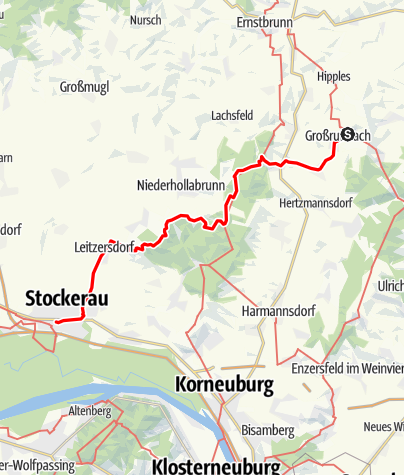 Mapa / Jakobsweg Weinviertel: Etappe 4: Großrußbach - Stockerau