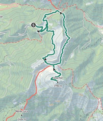 Map / The top of Ledro - Cima Pari summit tour