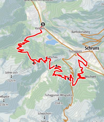 Karte / Handwerkstour - mit Blick zu den Gebirgsketten