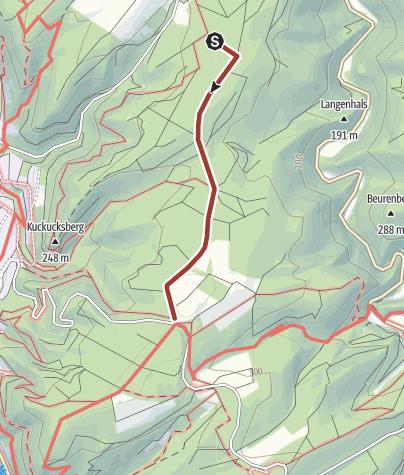 Karte / Archäologischer Wanderweg in Bruttig-Fankel