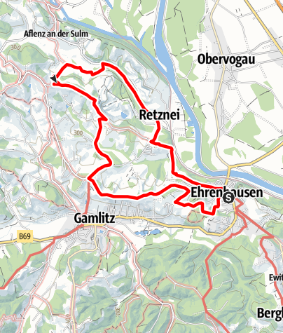 Karte / Wandern in Ehrenhausen - Weg 1