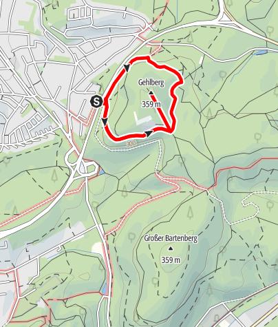 Karte / Rundweg Gehlenberg Dudweiler mit Gipfelbesteigung
