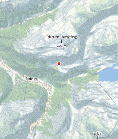 Karte / Blick auf die Silvretta-Hochalpenstrasse