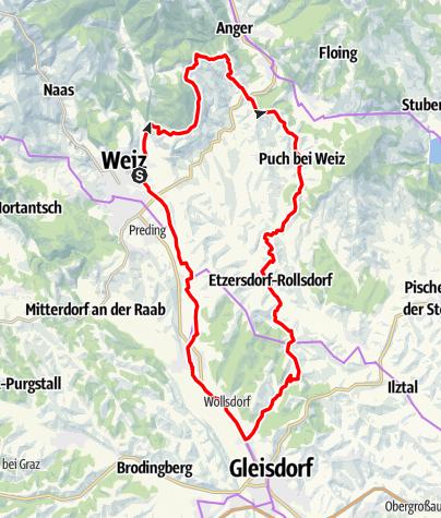 Karte / Tour durchs Apfelland