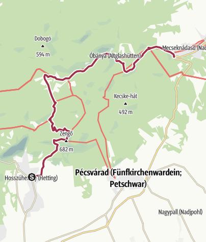Map / FelfedeZengő #1 Hosszúhetény - Mecseknádasd