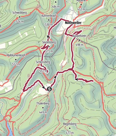 Karte / 4 - Burgen - Tour (Start Gimbelhof)