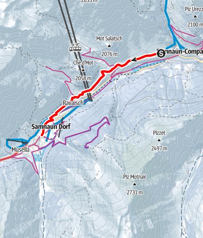 Karte / Samnaun-Laret – Samnaun Dorf (W3)