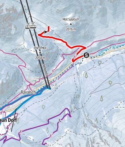 Karte / Samnaun-Plan – Tschischanaderet (W4)