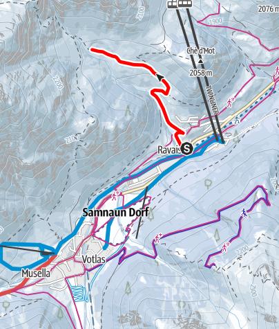 Karte / Samnaun-Ravaisch – Foppaziner Eck (W5)