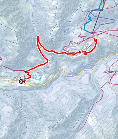 Map / Ardez - Ftan