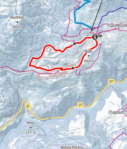 Karte / Ftan - Pignai (RW)