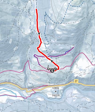Karte / Guarda – Alp Suot (retour)
