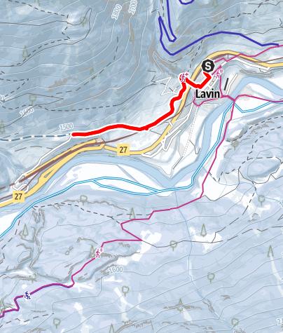 Map / Lavin - Sagliains (retour)