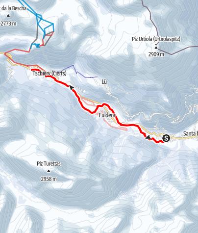 """Karte / 276 Val Müstair-Talloipe """"La vallada"""""""