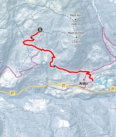 Karte / Alp Murtera Dadaint - Munt - Ardez