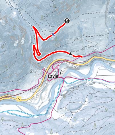 Karte / Charnadüras - Lavin