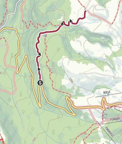Karte / Mit Kinderwagen zur Malga (Sennalm) Iuribello