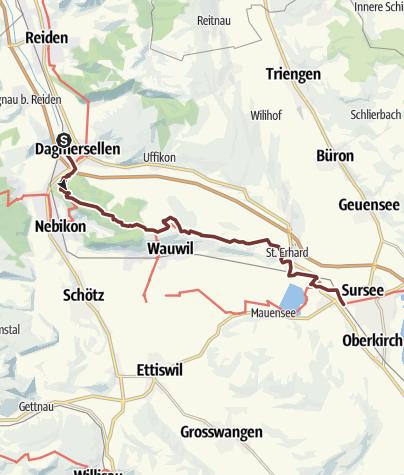 Karte / Mittwochspilgern Dagmarsellen - Sursee