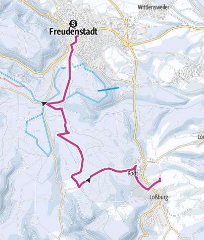 Karte / Tannenriesen-Winterwanderung von Loßburg und Freudenstadt zur Tannen-Stub