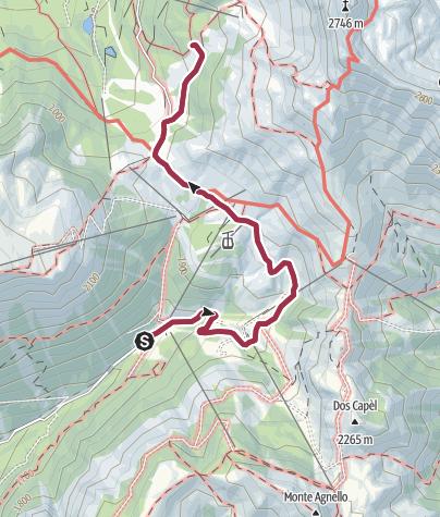 Cartina / Passeggiata con passeggino a Pampeago