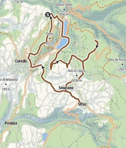 Karte / Quick Tour Predaia MTB