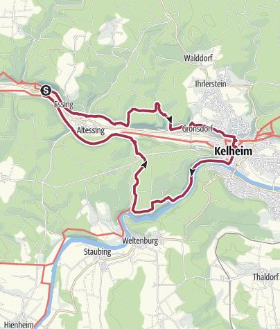Map / Altmühltal-Panoramaweg: Schlaufe 26: Essing