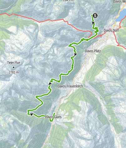 Map / Alpentour Davos Klosters