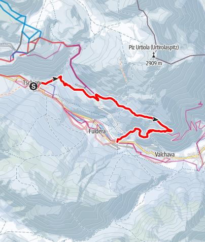 Karte / Winterwanderweg Tschierv - Lü – Craistas - Furom