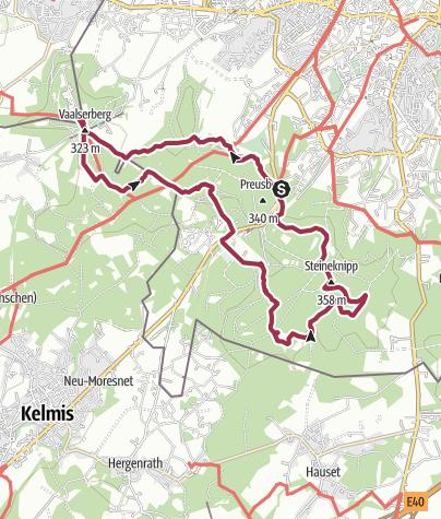 Karte / Wanderung im Aachener Wald und Dreiländereck