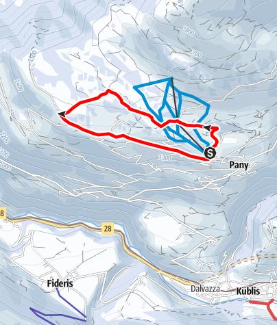 Map / Winterwanderweg Riedwies-Runde
