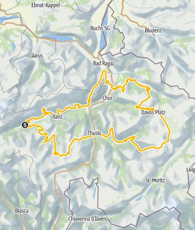 Karte / 90 Graubünden Bike - Gesamttour