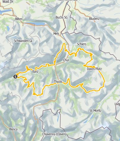Map / 90.1.-11. Graubünden Bike