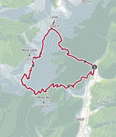 Map / Monte Gadria und La Roda