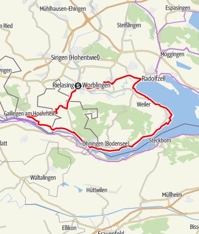 Karte / 3Welten-Radweg / Bodensee-Runde