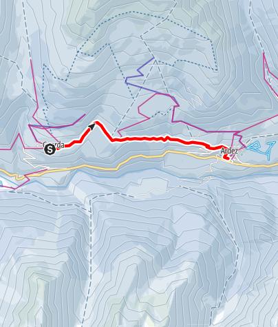 Kaart / Via Engiadina Winter, Etappe 1 Susch – Lavin – Guarda – Ardez