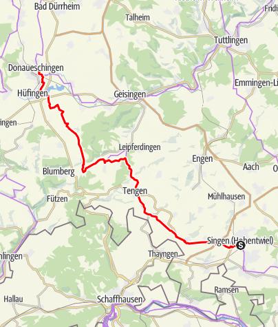 Map / 3Welten-Radweg  Etappe 2