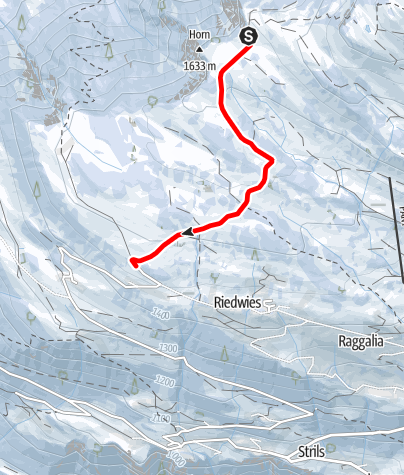 Map / Schlittelweg Tratza - Geisswis, Pany (Nr. 1)