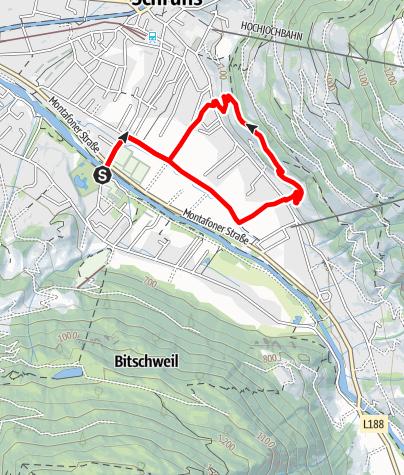 Kaart / Schrunser Feld-Runde