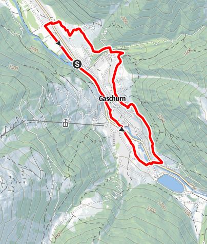 Kaart / Ortsrunde Gaschurn