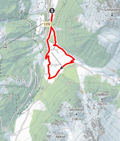 Karte / Vergalda-Schleife Gargellen