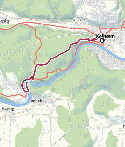 Map / Donaudurchbruch - Weltenburger Wanderweg IV: Archäologischer Wanderweg (Etappe 1)